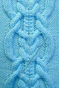 Cable panel 20 - Looks intricate but is easy to knit. The panel is 30 stitches.