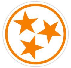 """Tennessee ::: Part of the TN state flag. In orange for """"Big Orange Country"""""""
