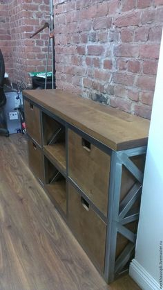 All Steel Industrial Style Media Console Tv Stand Cabinet 52 W