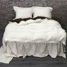 Linen Duvet cover Chalk   Hand Sewn Linen - linenshed