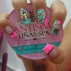 Green Nail Designs, Nail Polish Designs, Cute Nail Designs, Pedicure Nail Art, Nail Manicure, Gorgeous Nails, Pretty Nails, Ruby Nails, Cruise Nails