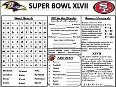 FREE Super Bowl Activity