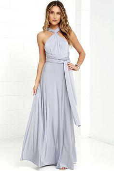 Pretty Maxi Dress - Convertible Dress - Light Grey Dress - Infinity Dress - $58.00