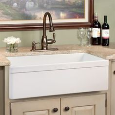 "30"" Chrisfield Single Bowl Fireclay Farmhouse Kitchen Sink - White"