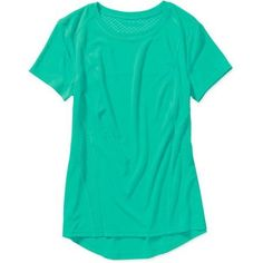 Danskin Now Women's Bubble Mesh T-Shirt, Size: Large, Green
