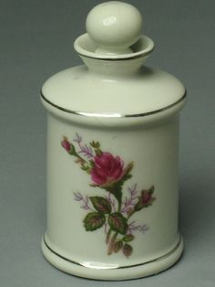 Love this.... Porcelain Perfume Bottle from 1940s by Momsvintagetreasures, $15.00