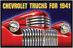 Vintage Trucks Classic Antique Truck Print - 1941 Chevrolet Trucks - That Chrome Grill Face - Treasures from the ANTIQUE Lifted Chevy Trucks, Classic Chevy Trucks, Chevrolet Trucks, New Trucks, Pickup Trucks, Classic Cars, Antique Trucks, Vintage Trucks, Chevy Stepside