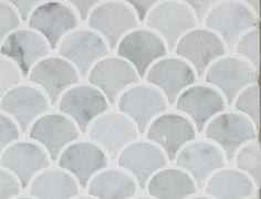 Mini Curve Appeal - Bianco Carrara Polished - Fan Shaped Mosaic, Sample contemporary-wall-and-floor-tile Floor Ceiling, Wall And Floor Tiles, Kitchen Backsplash Images, Backsplash Tile, Backsplash Ideas, Tile Ideas, Tile Stores, House Tiles, Stone Tiles