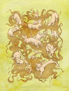 rabbit tattoo ideas from kozyndan