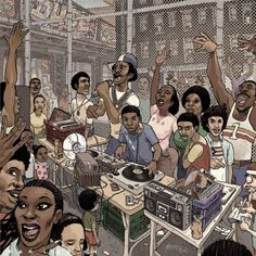 Positive Media Image & history on Hip Hop- Rap music has had a profound impact on society and subcultures. Hip-hop, or rap music, began in the early Hip hop arose from block parties in New York City. From there sparked sub-genre of New School, Gan Arte Do Hip Hop, Hip Hop Art, Dj Kool Herc, Estilo Hip Hop, Dancehall Reggae, Black Art Pictures, Old School Music, 90s Hip Hop, African American Art