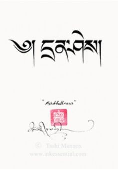 It means Mindfulness in Tibetan. Wants this for a tattoo so awfully bad!