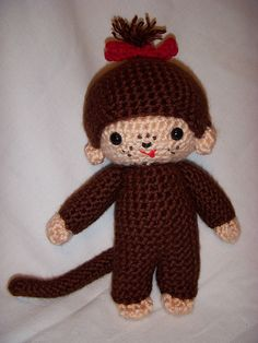 My friend wants an amigurumi monchichi.. and this is the closest resemblance i can find
