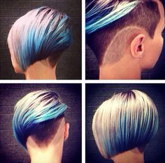 Love the idea of this, except keep the shaved part a bit longer shave, and no design in the shave. A great way to keep an awesome cut while growing out the top. Then once the top is grown you could grow the shaved part.