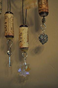 wine cork ornaments by jenniferET