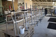 EACH CHAIR IS WORKED BY HAND AS MUCH AS POSSIBLE