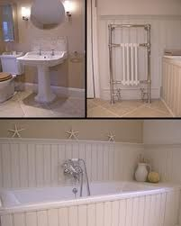 14 best tongue and groove bathrooms images on Pinterest   Bathroom Tongue And Groove In Bathrooms on engineered hardwood in bathroom, lap siding in bathroom, beadboard paneling in bathroom, molding in bathroom, chair rail in bathroom, wainscot in bathroom, baseboard in bathroom, wood panelling in bathroom, quarter round in bathroom, shiplap siding in bathroom,