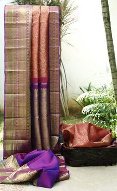 Lakshmi Handwoven Kanjivaram Silk Sari 1000058 - Sari / All Saris - Parisera