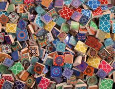 Ceramic Mosaic Tiles 2 Pounds Mixed Moroccan Tile Designs Pieces Bulk For Art Media Jewelry