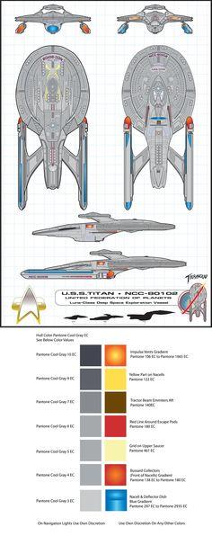U.S.S. TItan Schematics 2008 by =stourangeau on deviantART