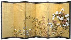 Japanees byobu screen. I would love this for our bedroom