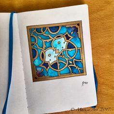 Ornament in blue & gold