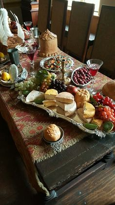 Cheese and fruit at Pennsbury Manor, William Penn's Country Estate