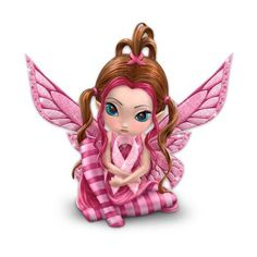 Breast Cancer Support Fairy Figurine: Magic Of Hope----I love and support anything to do with any kind of Cancer or MS....there has been so much of both in our family. That C word is a dirty word in our house.