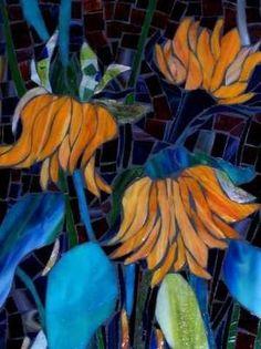 Beautiful Sunflowers        #flowers #mosaic #art by tina66