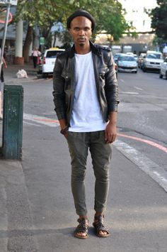 Cape Town South Africa Street Style, Leather Jacket