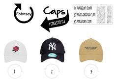 Caps: Remastered by fohnsey on Polyvore featuring polyvore, fashion, style and clothing