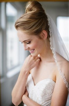 This embellished tulle veil from Nordstrom is simply ethereal. | Brides & Hairpins 'Lydia' Embellished Tulle Veil | Wedding Fashion | Bridal Style | Wedding Veil