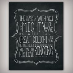 He Is Mighty To Save Scripture Verse Art Print by BuhbayQuotes, $7.25