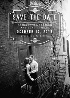 Customized save-the-date wedding invitations. Tell your friends and family!