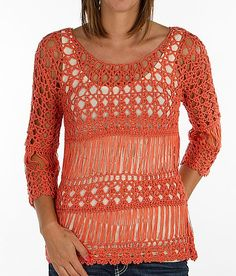 """""""Daytrip Open Weave Sweater"""" www.buckle.com"""