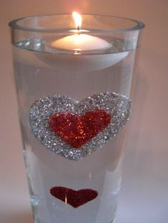 #Deco_Dots Shape and Bake by #burtonandBurton #floating_candles #DIY #crafts #Valentines_Day #heart #red #glitter #love #decorations #weddings #events #centerpieces #Deco_Dots Shape and Bake floats underwater!
