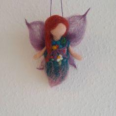 Little red hair fairy #needlefelting #handmade #fairy