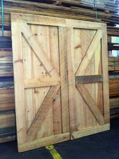These killer barnstyle doors would look great in your home!