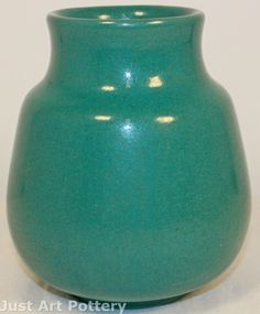 Saturday Evening Girls Pottery Green Arts and Crafts Vase from Just Art Pottery