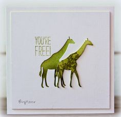 Might need these dies (and stamps?) from Penny Black.  Birgit's giraffe and elephant cards are spectacular!