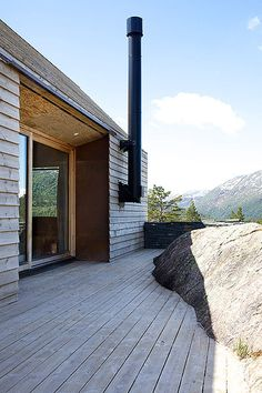 .// weekend house stødle/ Knut Hjeltnes Arkitekter. Pinned by Ellen Rus.