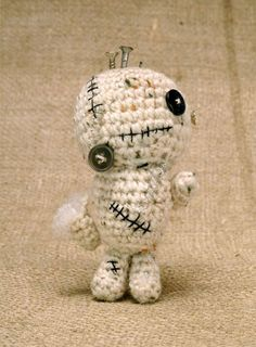 really cute crochet zombie