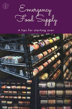 Emergency food supply, 4 tips from someone who would start over. Starting to build an emergency food stockpile. Food storage tips. Emergency food supply tips.