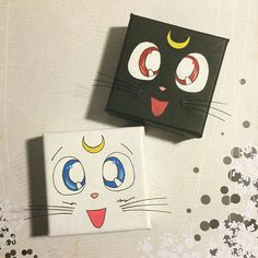 Acrylic paintings 801500064917557497 - [Acrylic Painting] Sailormoon Guardian Cats on Behance Source by minyoongiart Simple Canvas Paintings, Easy Canvas Art, Small Canvas Art, Mini Canvas Art, Acrylic Paintings, Portrait Paintings, Painting Abstract, Art Paintings, Abstract Portrait