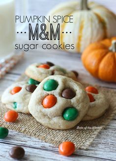 If you bake one cookie this fall, it's gotta be these Pumpkin Spice M&M Sugar Cookies. They're buttery, chewy, and stuffed with chocolaty delicious Pumpkin Spice M&M's!
