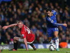 Eden Hazard and Tunnicliffe