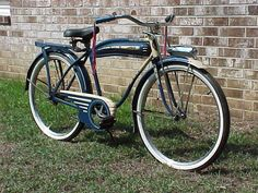 1941 WESTFIELD original paint, white wall balloon tires, Columbia style full coverage chain guard, truss rod front fork, front fender light