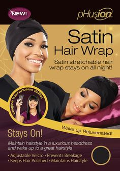 Finally a satin hair wrap that truly works and stays on! It's a satin…