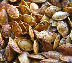 Roasted Pumpkin Seeds are one of my favorite snacks this time of year.  One taste makes all the work of separating seeds from the pulp co...
