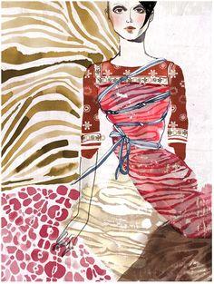 Tina Berning fashion illustration