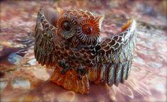 Hand carved owl bracelet!!